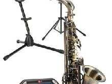 Saxophone Instrument a Vent Bois Alto Set Supporte Accordeur Metronome Pupitre