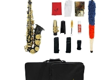 1 Set Noir Alto Saxophone Alto Haute F Clé w / Sac Gig Bag Sangle