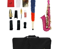 1 Set Fushcia Alto Saxophone Alto Haute F clé w / Gig Bag Sangle