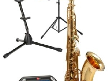 Saxophone Instrument a Vent Saxo Tenor Set Support Pupitre Metronome Accordeur