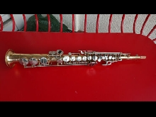 Saxophone soprano Amati with mellow sound, and standard playing condition.
