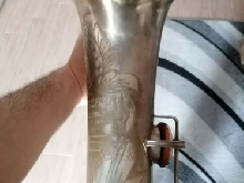 BUESCHER BIG B SILVER TENOR SAXOPHONE COMPLETELY RESTORED, MONSTER SOUND SAX.